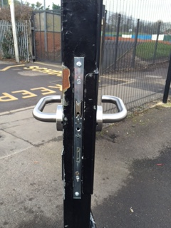 Howitt Primary School Gate Lock Fitted 01