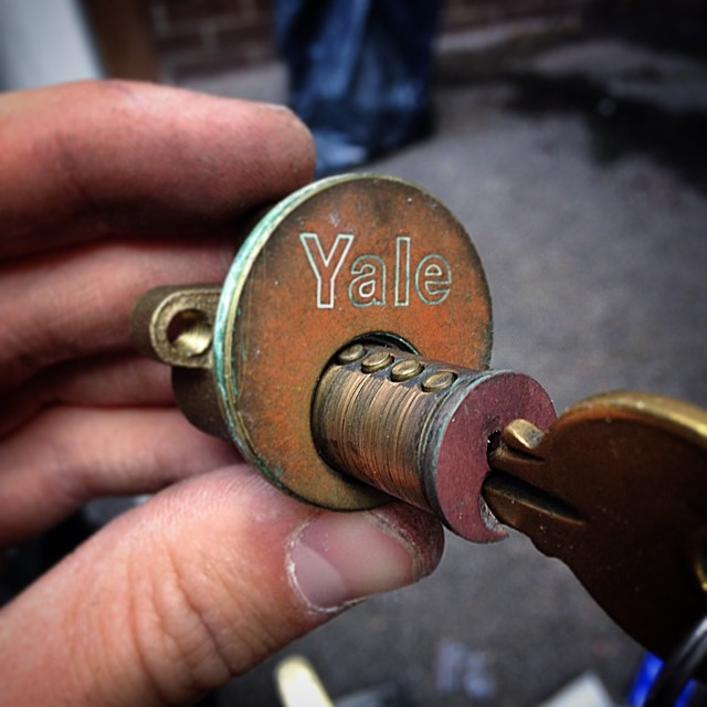 1970s Yale Lock and Original Key - Lock Replacement For a Customer