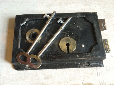 Refurbished 18th Century Lock With New Keys
