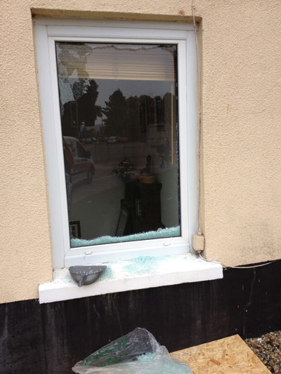 Broken Window at Domestic Property