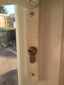 lock fitted to upvc door