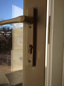 anti snap lock fitted to upvc door