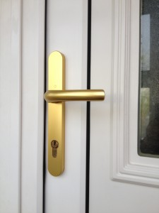 uPVC Door handle fitted