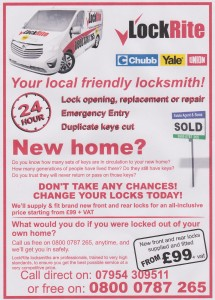 Are you a new home owner? Flyer - Change your locks