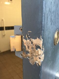 Damage To Door From Attempted Break In