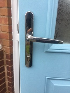 Yale Keyless Lock Fitted - Before
