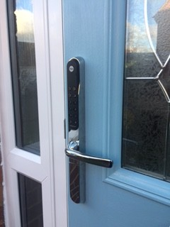 Yale Keyless Lock Fitted - After