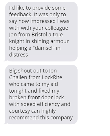Bristol Locksmith Review - Sue M