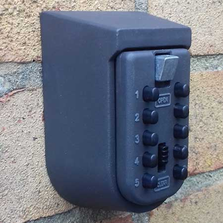 Key safe fitted for customer